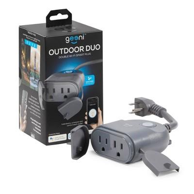 Outdoor DUO Double Smart Wi-Fi Plug Gray - Geeni