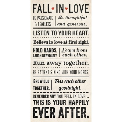 Wall Canvas - Fall in Love 12x24