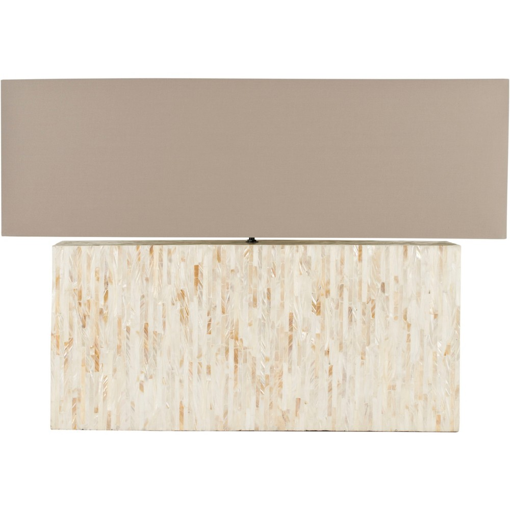 Ayers Mother Of Pearl Tile Lamp Light - Cream - Safavieh, Light Cream/Multicolor