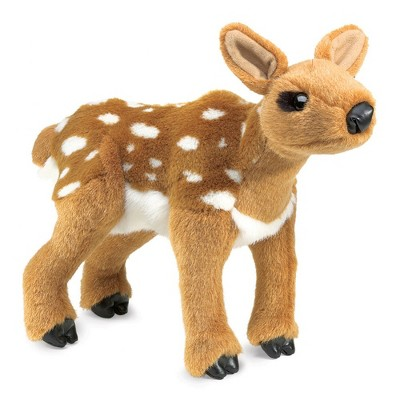 Folkmanis Fawn Hand Puppet with Movable Head and Front Paws