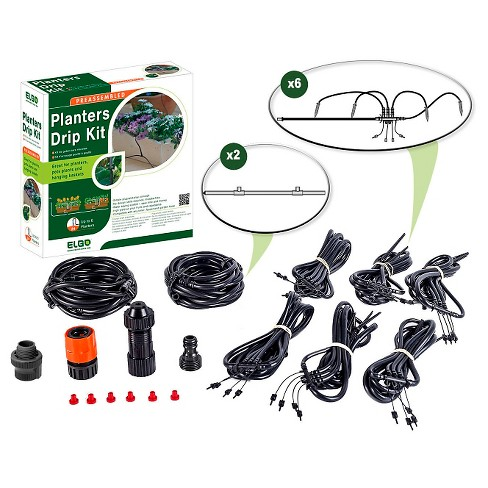 24 Dripper Set Planters Drip Kit - Black - Elgo - image 1 of 3