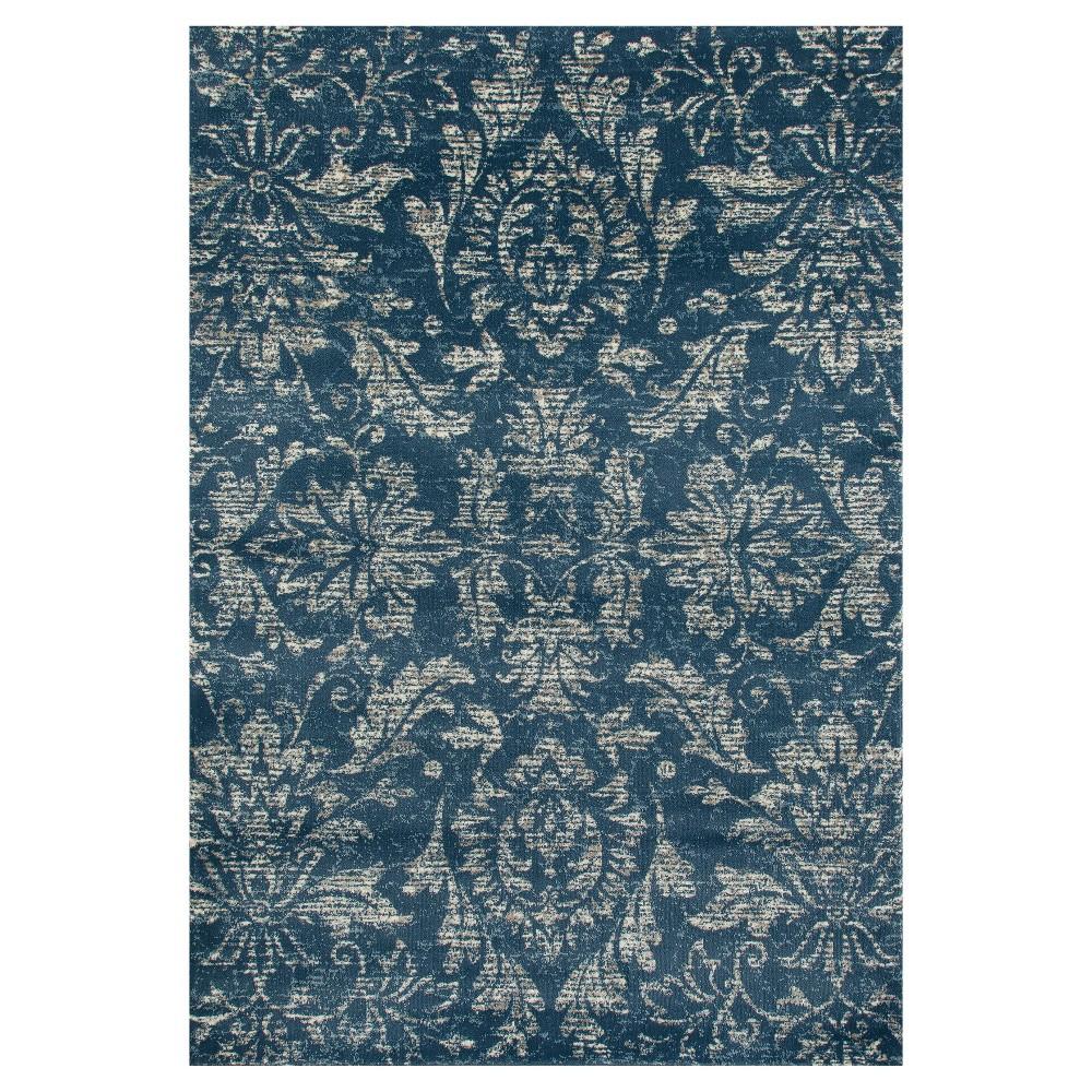 Image of Blue Classic Woven Area Rug - (5'X8') - Art Carpet