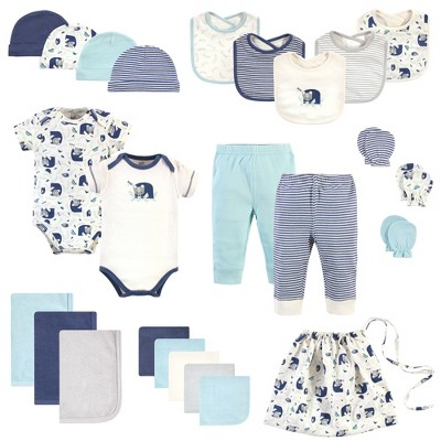 Touched by Nature Baby Boy Organic Cotton Layette Set and Giftset, Woodland, 0-6 Months
