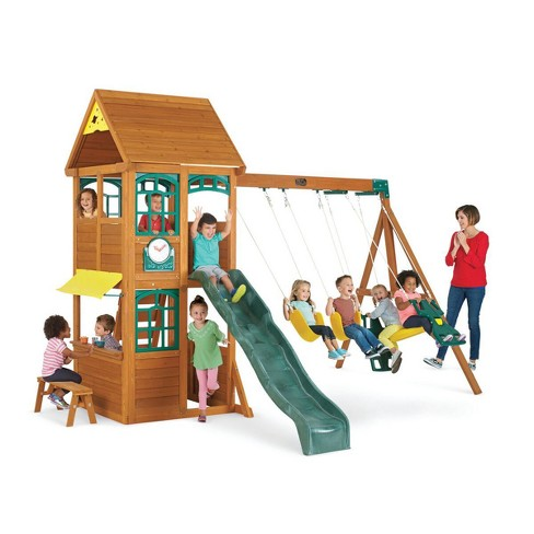 Marvelous Kidkraft Brooksville Wooden Swing Set Playset Frankydiablos Diy Chair Ideas Frankydiabloscom