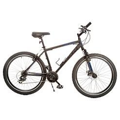 """Titan Dark Knight Alloy Men's Mountain 26"""" Bike with Suspension shock, 21 speeds, Men's, Black"""