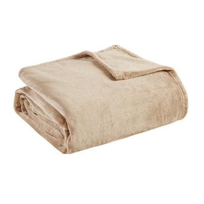 Ultra Premium Plush Blanket (Full/(Queen)Tan