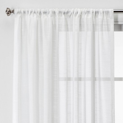 84 x54  Open Weave Sheer Window Curtain Panel White - Project 62™
