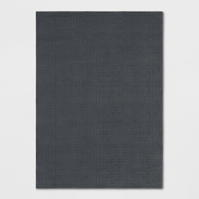 Gray Solid Washable Area Rug 5'X7' - Made By Design™