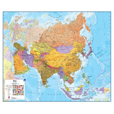 Maps International 1:11 Scale Laminated Asia Wall Map