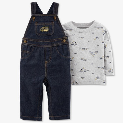 f35896693 Baby Boys' 2pc Denim Construction Overall Set - Just One You® Made By  Carter's Blue : Target