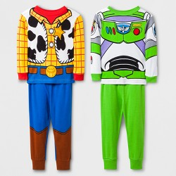 Toddler Boys' Toy Story 4pc Pajama Set - Blue