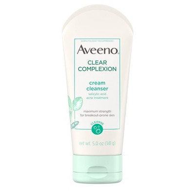 Facial Cleanser: Aveeno Clear Complexion Cream Cleanser