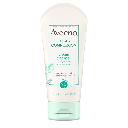 Aveeno Clear Complexion Cream Cleanser with Salicylic Acid - 5 fl oz - image 1 of 4