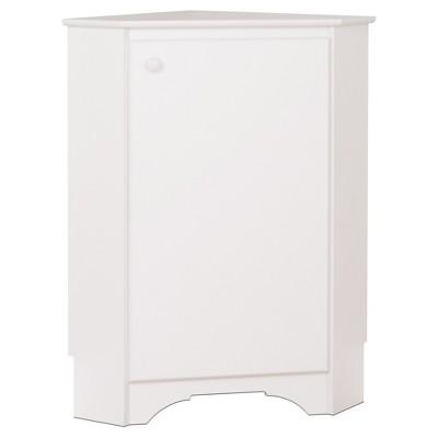 Elite Corner Storage Cabinet - White - Prepac