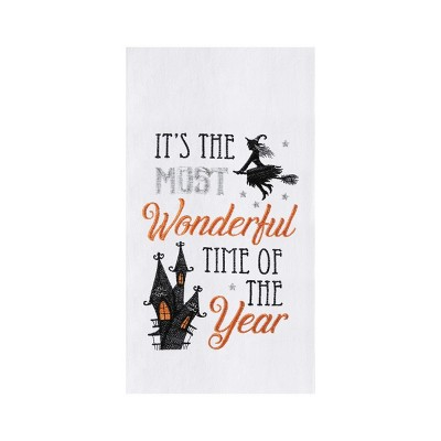 C&F Home It's The Most Wonderful Time Of Year Witch Halloween Flour Sack Kitchen Towel