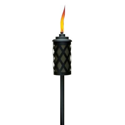 "65"" Urban Convertible Metal Larrice Patio Torch with Deck Clamp Bronze/Black - TIKI"
