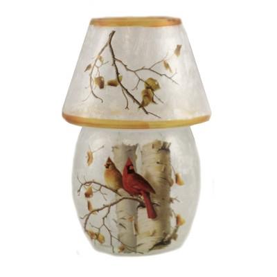 """Stony Creek 5.5"""" Fall Cardinals Pre-Lit Lamp Autumn  -  Novelty Sculpture Lights"""