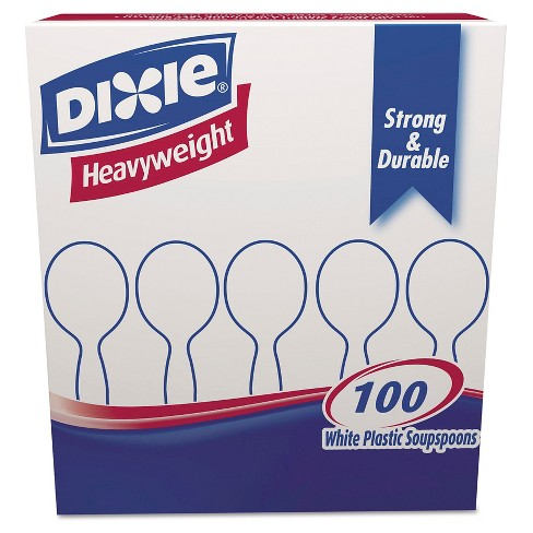 Dixie® Heavyweight White Plastic Soup Spoons - 100ct - image 1 of 1