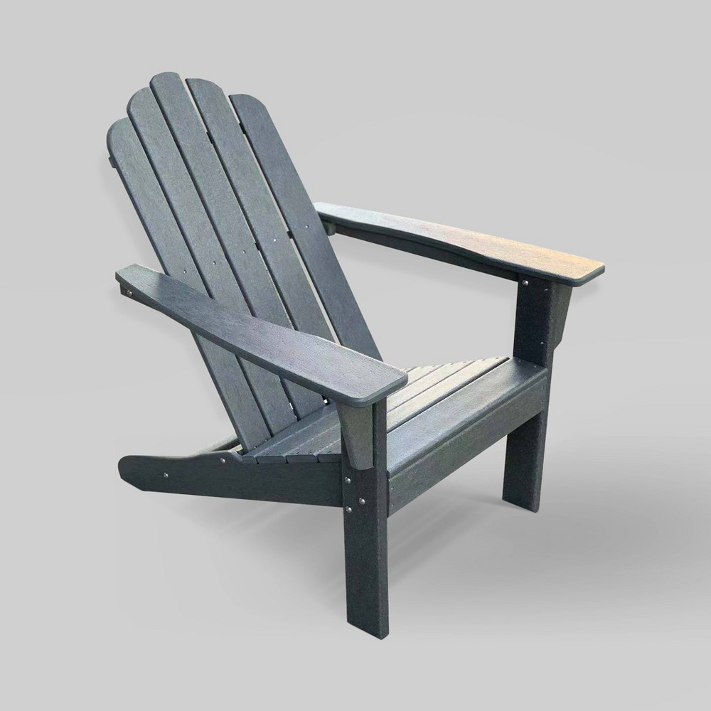 Image of 2pk Marina Patio Adirondack Chair Gray - LuXeo