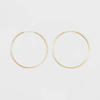 Gold Over Sterling Silver Endless Hoop Fine Jewelry Earrings - A New Day™ Gold