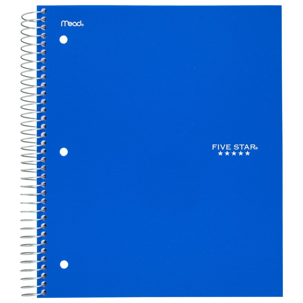 Spiral Notebook College Ruled 1 Subject Blue - Five Star