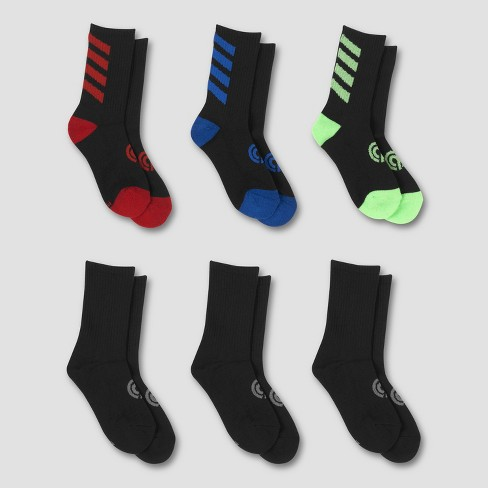 Boys' 6pk Crew Athletic Socks - C9 Champion® - image 1 of 3