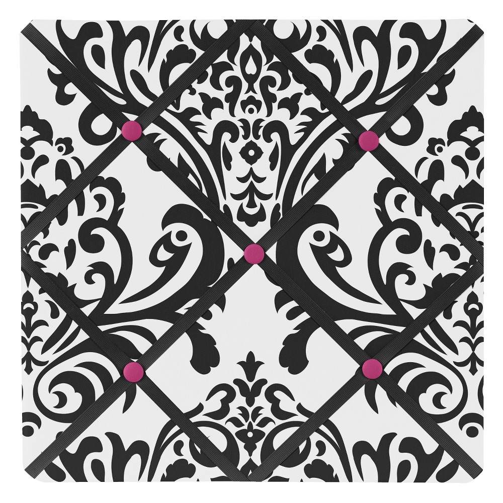 Hot Pink Isabella Photo Memo Board (13x13)- Sweet Jojo Designs