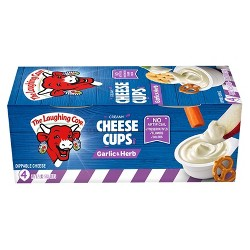 The Laughing Cow Garlic & Herb Cheese Cups - 4pk
