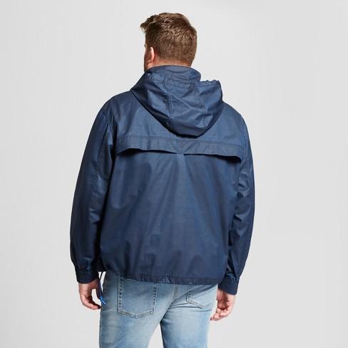 545da69f8880 Men s Big   Tall Popover Windbreaker Jacket - Goodfellow   Co™ Washed Navy