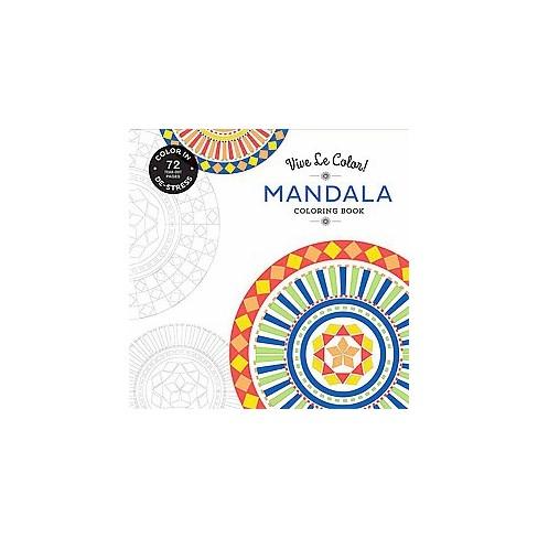 Mandala Adult Coloring Book: Color In, De-Stress : Target