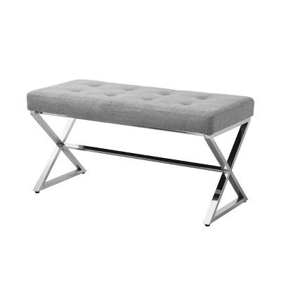 Baylor Upholstered X Leg Bench - Carolina Chair & Table