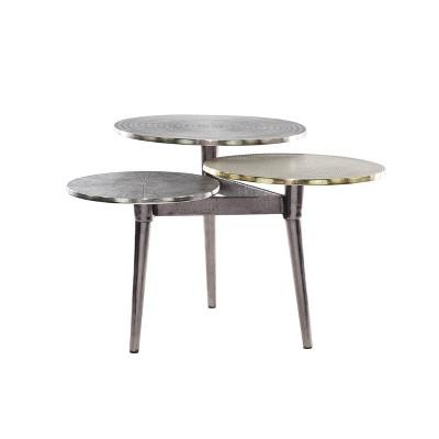 3 Tier Aluminum Patio Coffee Table - Olivia & May