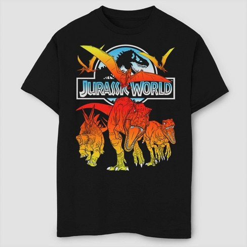 Boys' Jurassic World Fallen Kingdom Hot Shots T-Shirt - Black - image 1 of 2