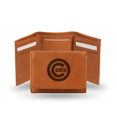 Chicago Cubs Rico Industries Embossed Leather Trifold Wallet