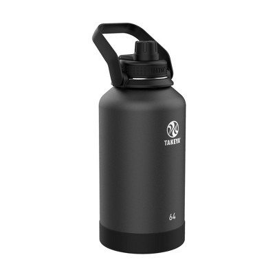 Takeya 64oz Actives Insulated Stainless Steel Water Bottle with Spout Lid - Onyx