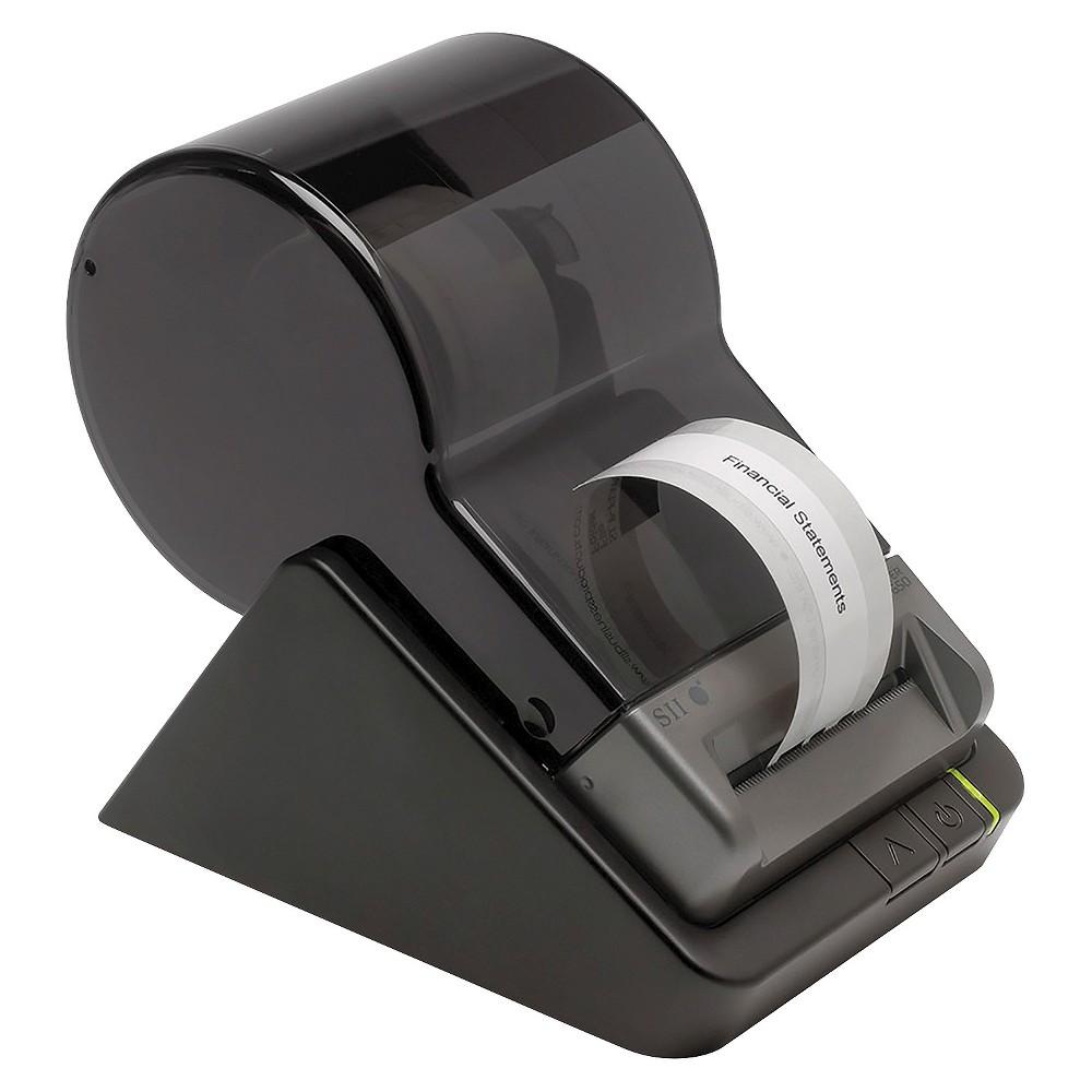 "Image of ""Seiko Smart Label Printer 650, 2.28"""" Labels, 3.94""""/Second, 4-1/2 x 6-7/8 x 5-7/8, Black"""