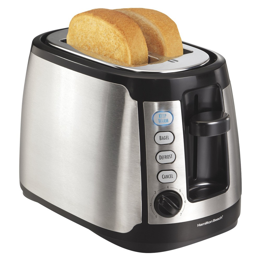 Hamilton Beach Keep Warm 2 Slice Toaster – Silver 22811, Ss/Black 14563458
