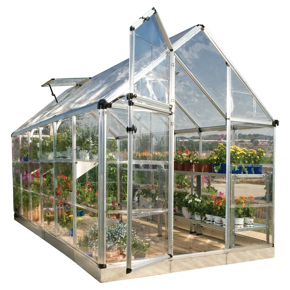 Image of (6' x 12' x 7') Snap & Grow Series Hobby Greenhouse - Silver - Palram
