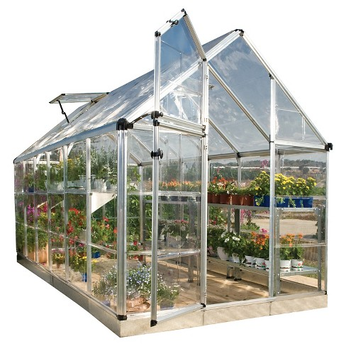 (6' x 12' x 7') Snap & Grow Series Hobby Greenhouse - Silver - Palram - image 1 of 10