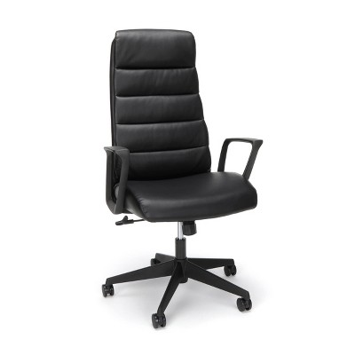 Basyx Bolster Bonded Leather Executive Chair Black - HON