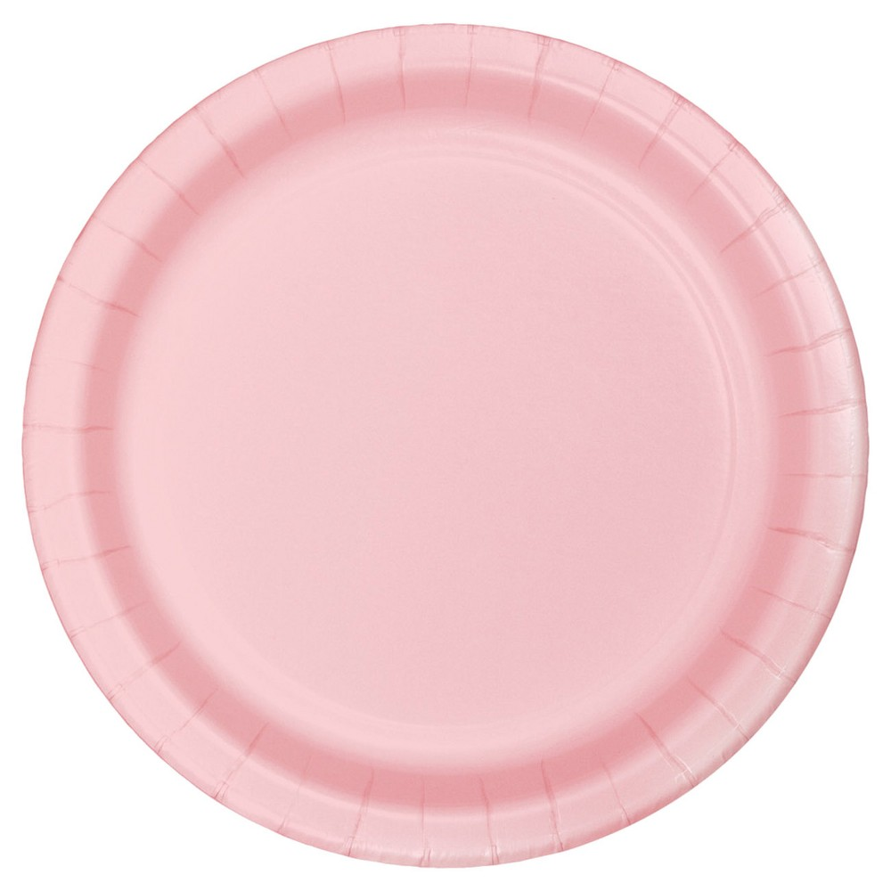 Best Buy Classic Pink 7 Dessert Plates 24ct