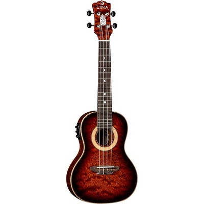 Luna Guitars 15th Anniversary Koa Concert Acoustic-Electric Ukulele Gloss Natural