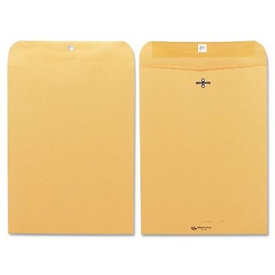 Quality Park Clasp Envelope 9 x 12 28lb Brown Kraft 100/Box 37890