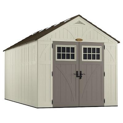 Resin Tremont Storage Shed 8' X1 6' - Vanilla/Gray - Suncast