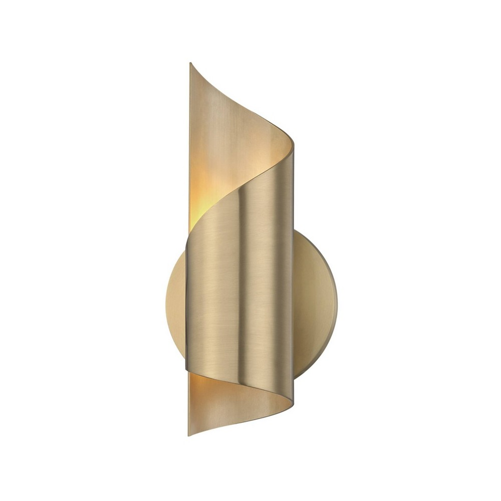 Evie LED Wall Sconce Aged Brass - Mitzi by Hudson Valley Discounts