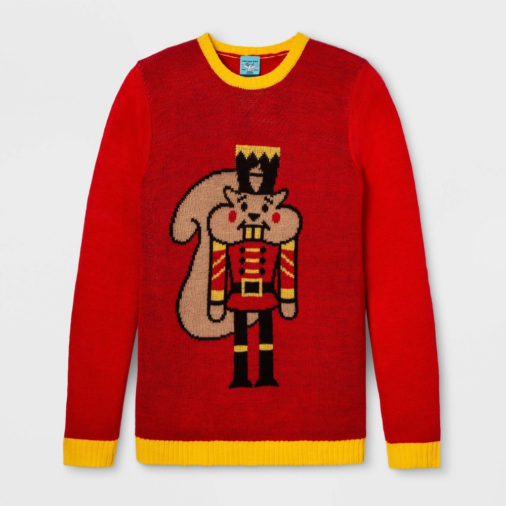 Image of Gender Inclusive Nutcracker Sweater - Red 2XL, Adult Unisex, Size: XXL