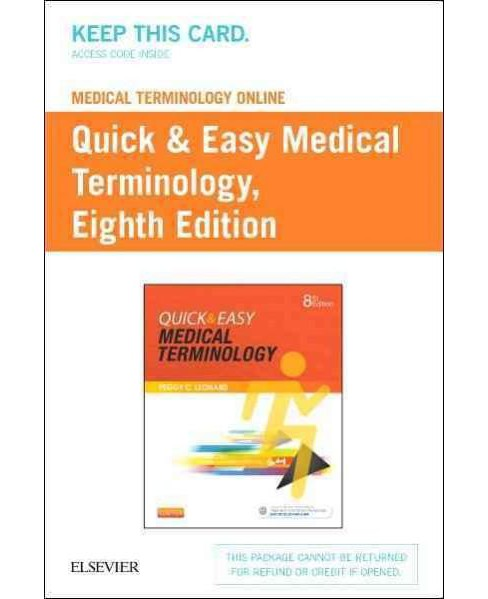 Quick & Easy Medical Terminology Medical Terminology Online with Elsevier Adaptive Learning Access Code - image 1 of 1