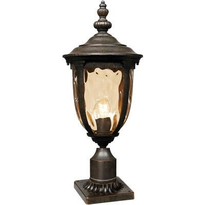 John Timberland Vintage Outdoor Post Light Bronze 25 inch Tall Fixture with Pier Mount for Deck Patio Entryway