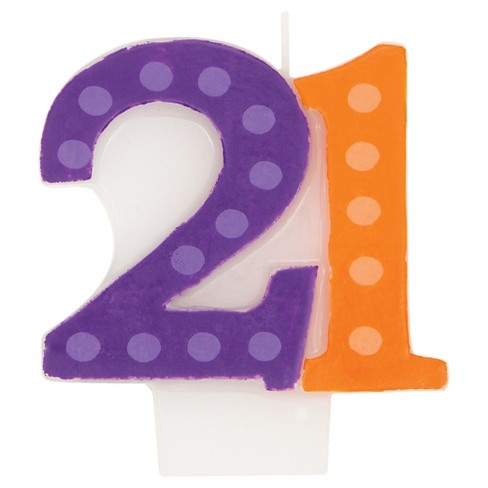 Bright And Bold 21st Birthday Candle Target