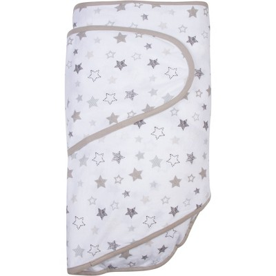 Miracle Blanket Swaddle Wrap Stars Gray